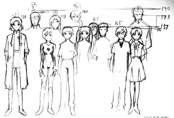 エヴァンゲリオン キャラクター 対比表